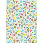 "Gift wrap paper ""Hello Monster!"" Set of 3 002"
