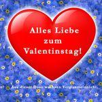 Blumengrüße aus der Dose - Valentinstag Herz mit Vergissmeinnicht Bild 2