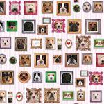 Geschenkpapier - 3 Bögen Hunde Geschenkpapier Dog Portrait
