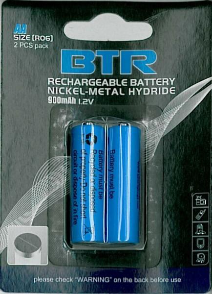 Zubehör Akku AA 900 mAh NiMH 2er- Blister Batterien Betterlighting – Bild 2