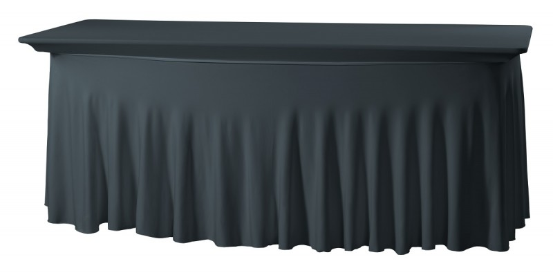 Tischhusse Grandeur Easy-Jersey für rechteckigen Tisch mit 183x76x73 cm  – Bild 2