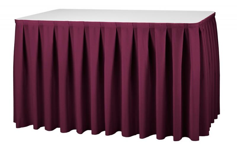 Skirting Boxpleat President Tischskirtings für 410 bis 580 cm Tischumfang – Bild 2