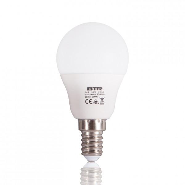 LED Leuchtmittel P45, Leistung 3W, E14, 250 lm, 9 SMD, Energiesparlampe – Bild 1