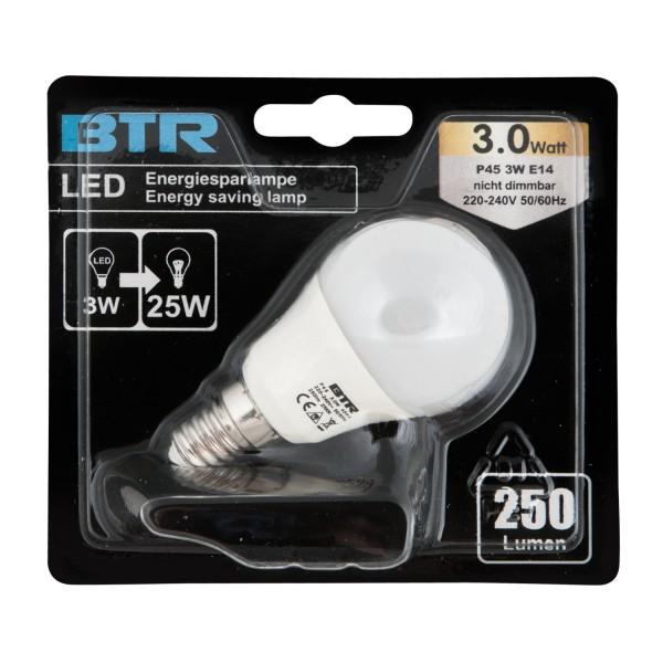 LED Leuchtmittel P45, Leistung 3W, E14, 250 lm, 9 SMD, Energiesparlampe – Bild 2