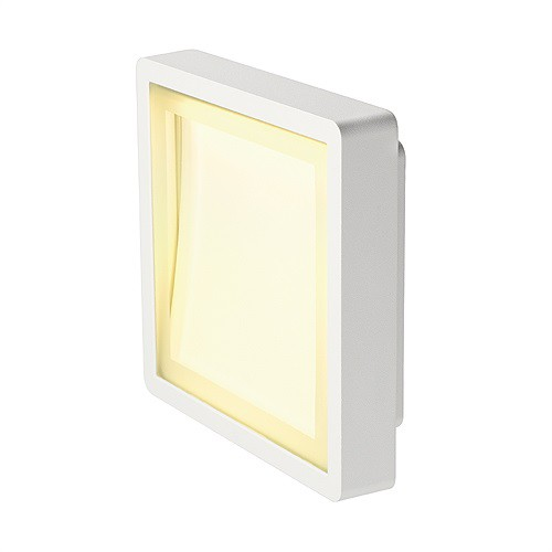 INDIGLA Downunder Wandleuchte, silbergrau, 36 SMD LED, 6W, 3000K, IP54 – Bild 1