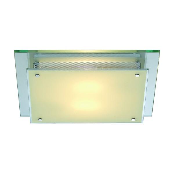 GLASSA SQUARE E27 Decken- leuchte, eckig, 2xE27, max. 2x60W – Bild 1