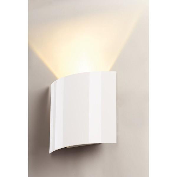 LED SAIL 1 Wandleuchte, halbrund, weiss, 1x3W LED, 3000K – Bild 4
