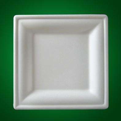 Bio Geschirr 26x26 cm Teller SQ-03/50 Einweggeschirr Teller Einwegteller