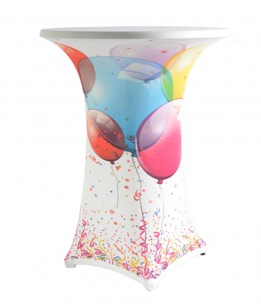 Stehtischhusse Samba Print Covers Easy-Jersey für 80 bis 85 cm Durchmesser – Bild 4