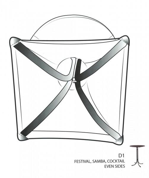 Stehtischhusse Basic D1 Plain-Jersey für 70 bis 85 cm Durchmesser – Bild 8