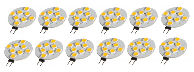 12er Set LED Leuchtmittel G4 1,5 Watt mit 8 LED´s Energiesparlampe – Bild 1