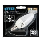 6er Set LED Leuchtmittel C37, Leistung 3W, E14, 250 lm, 9 SMD, Energiesparlampe 3