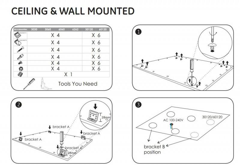 Wandhalterung Zubehör zu LED Panel 62x62cm – Bild 4