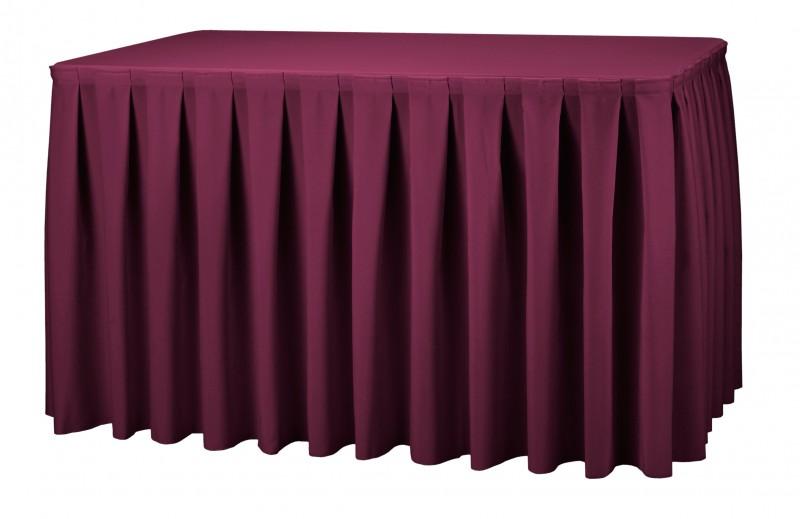 Combiskirting Boxpleat rechteckig Poly-Jersey Tischskirtings für ein 183x76x73 cm Tisch – Bild 4