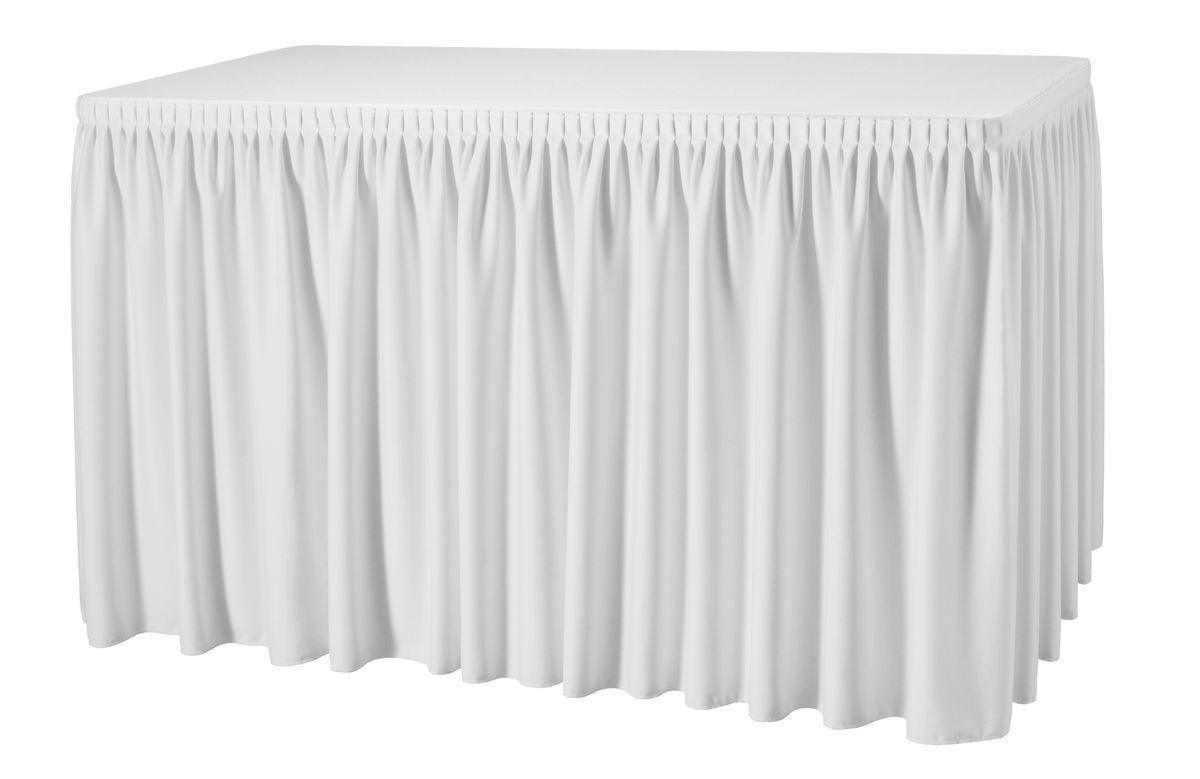 Combiskirting Plissé rechteckig President Tischskirtings für ein 183x76x73 cm Tisch – Bild 3