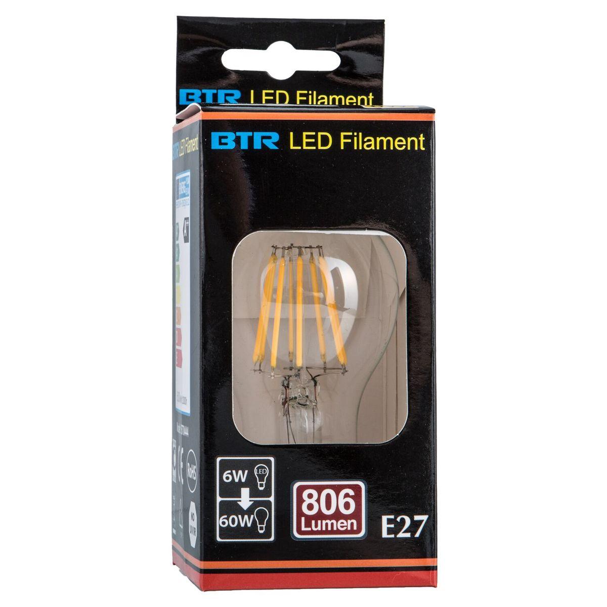 BT0444, A60 6W E27 806lm Filament – Bild 2