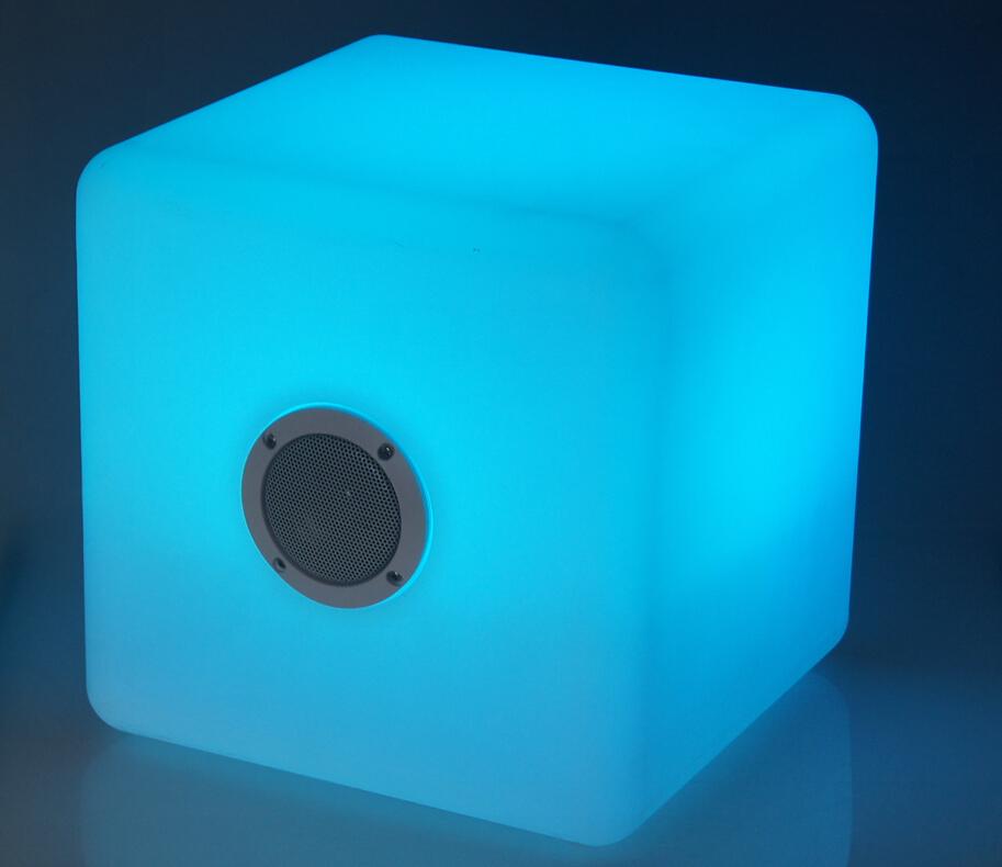 RGB Leuchtwürfel 30cm inkl. Lautsprecher Bari BT1701-30CS – Bild 1