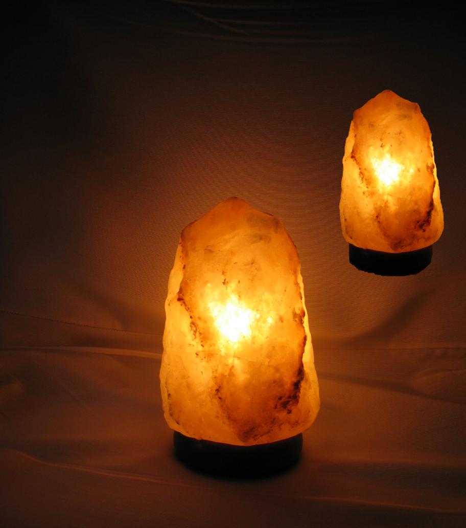 2er Set Salzkristall Lampe Leuchte Salzlampe Himalaya Salzleuchte 2,5 - 3,5 kg 1312 – Bild 1