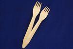 Gabel ummantelt aus Birkenholz, 16,5cm lang, 100 Stück  1