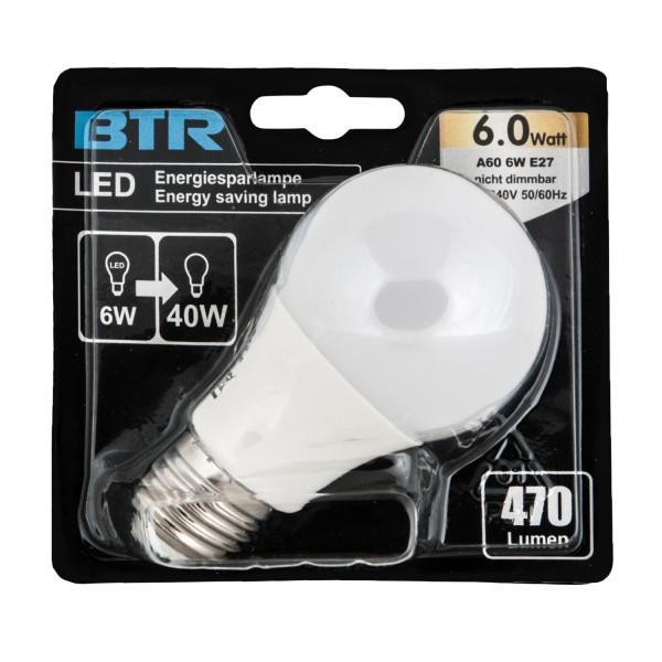 LED Leuchtmittel BT7802SI A60, Leistung 6W, E27, 470 lm, nicht dimmbar, 17 SMD, Energiesparlampe – Bild 2
