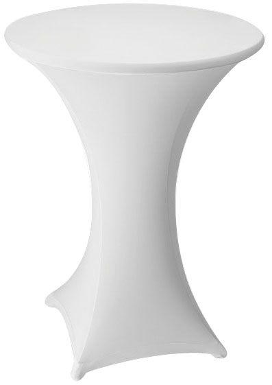 3 Bein Stehtisch Stretchhusse-Uni von 70 - 85 cm Tischplattenumfang, mehrere Farben, sehr gute Qualität, wird für Sie gefertigt, keine Lagerware – Bild 20