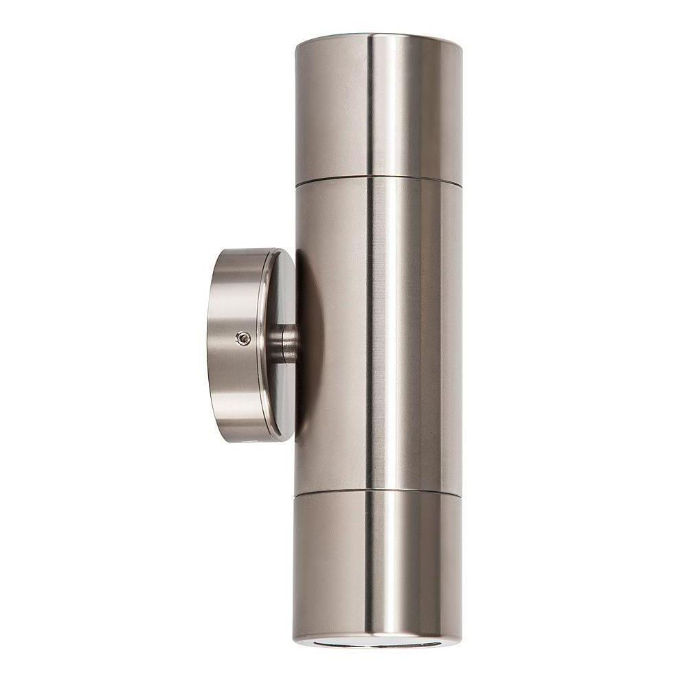 HV1085-HV1087 - Tivah Titanium Aluminium Up & Down Wall Pillar Lights – Bild 1