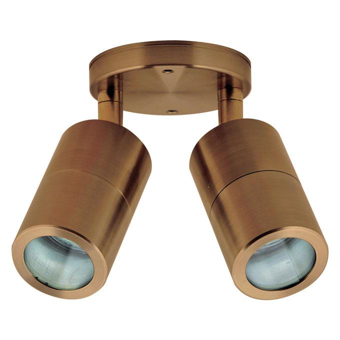 HV1310 - Tivah Solid Copper Double Adjustable Spot Lights 12v – Bild 1