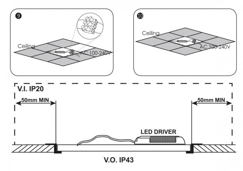 Super dünnes LED Panel BT5020S- 62x62 inkl. hochwertigem flickerfreiem Vorschaltgerät  – Bild 6