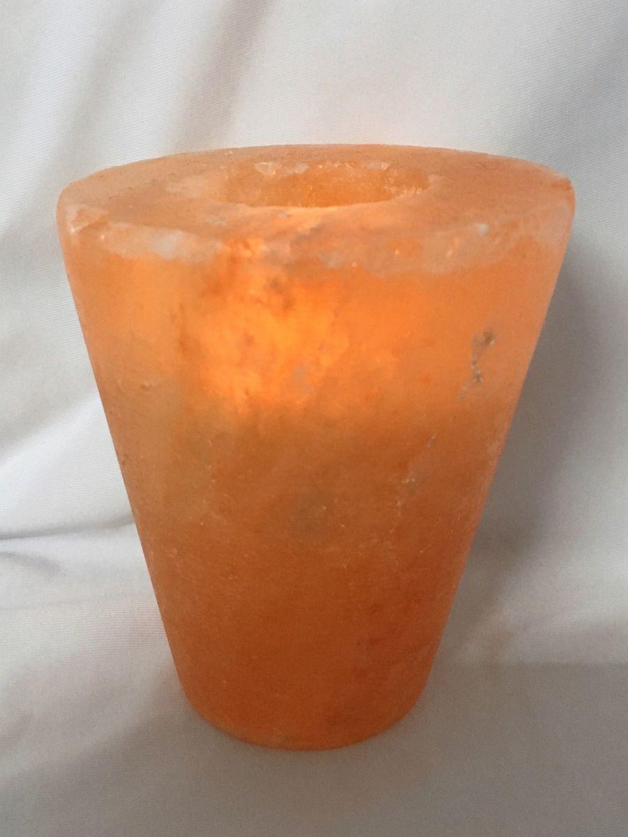 Salzkristall Kegel Salzlampe Himalaya Salz Teelicht Leuchte 1-2 kg 1320 – Bild 1