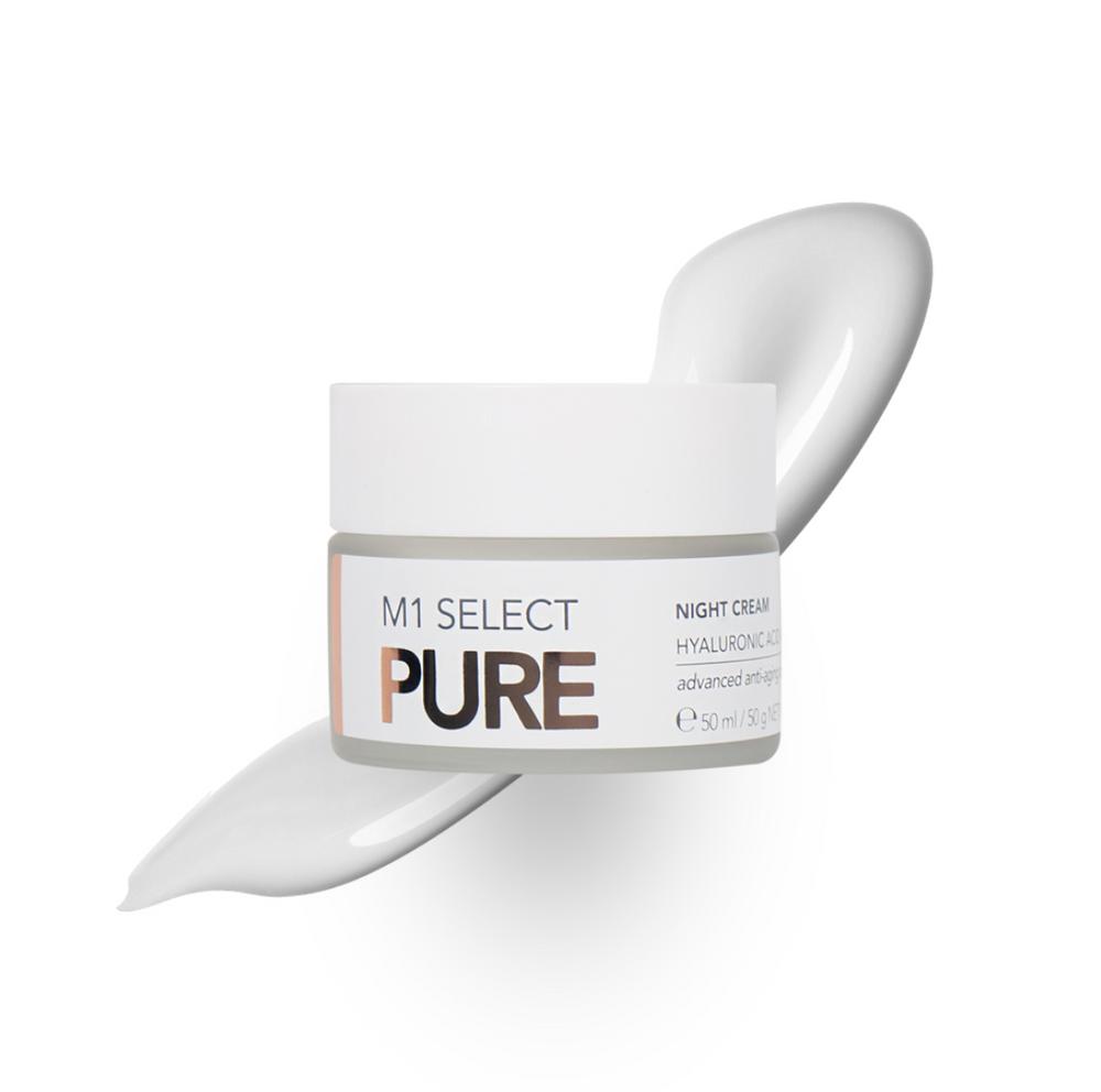 M1 Select PURE Night Cream 50ml - Reichhaltige Anti Aging Nachtcreme