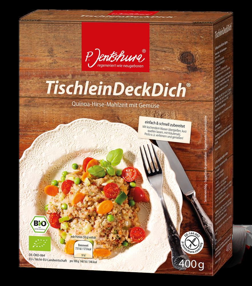 P. Jentschura Tischlein Deck Dich BIO 400g - Quinoa - Hirse - Mahlzeit mit Gemüse