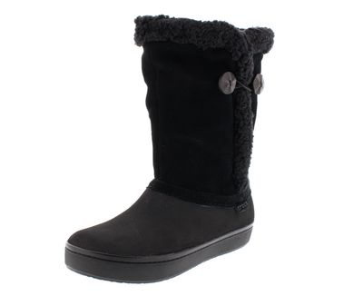 CROCS - Winterstiefel Modessa Suede Button Boot - black