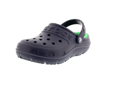 CROCS Kinderschuhe - HILO LINED CLOG Kids - navy green