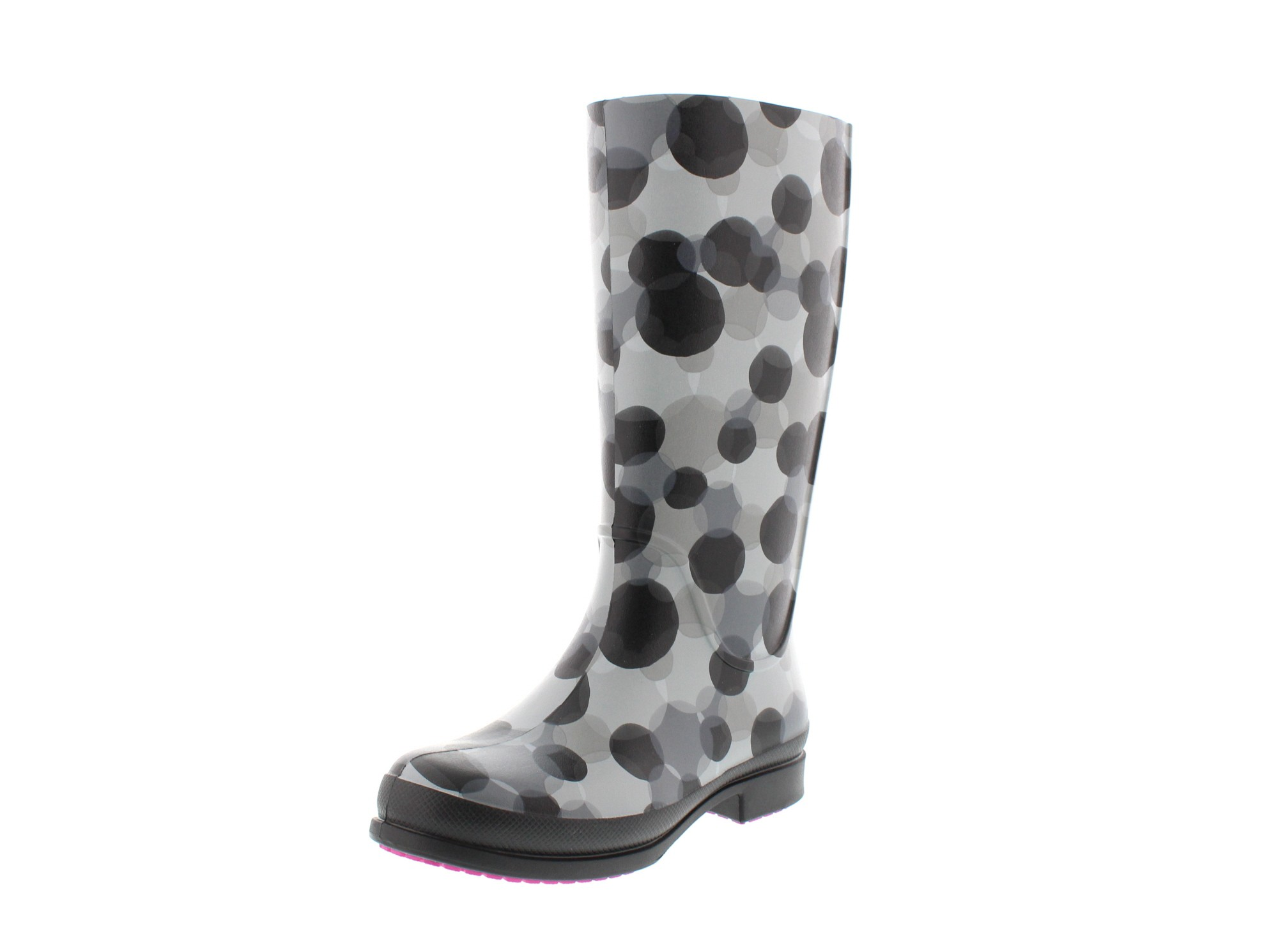 CROCS - Gummistiefel WELLIE POLKA DOT BOOT smoke black0