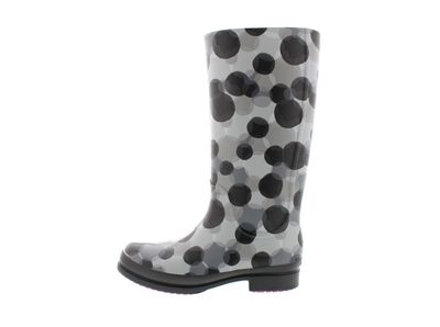 CROCS - Gummistiefel WELLIE POLKA DOT BOOT smoke black preview 2