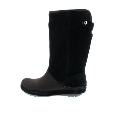 CROCS - Stiefel BERRYESSA TALL Suede Boot - black preview 2