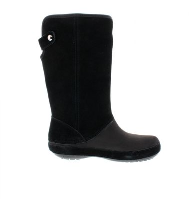 CROCS - Stiefel BERRYESSA TALL Suede Boot - black preview 4