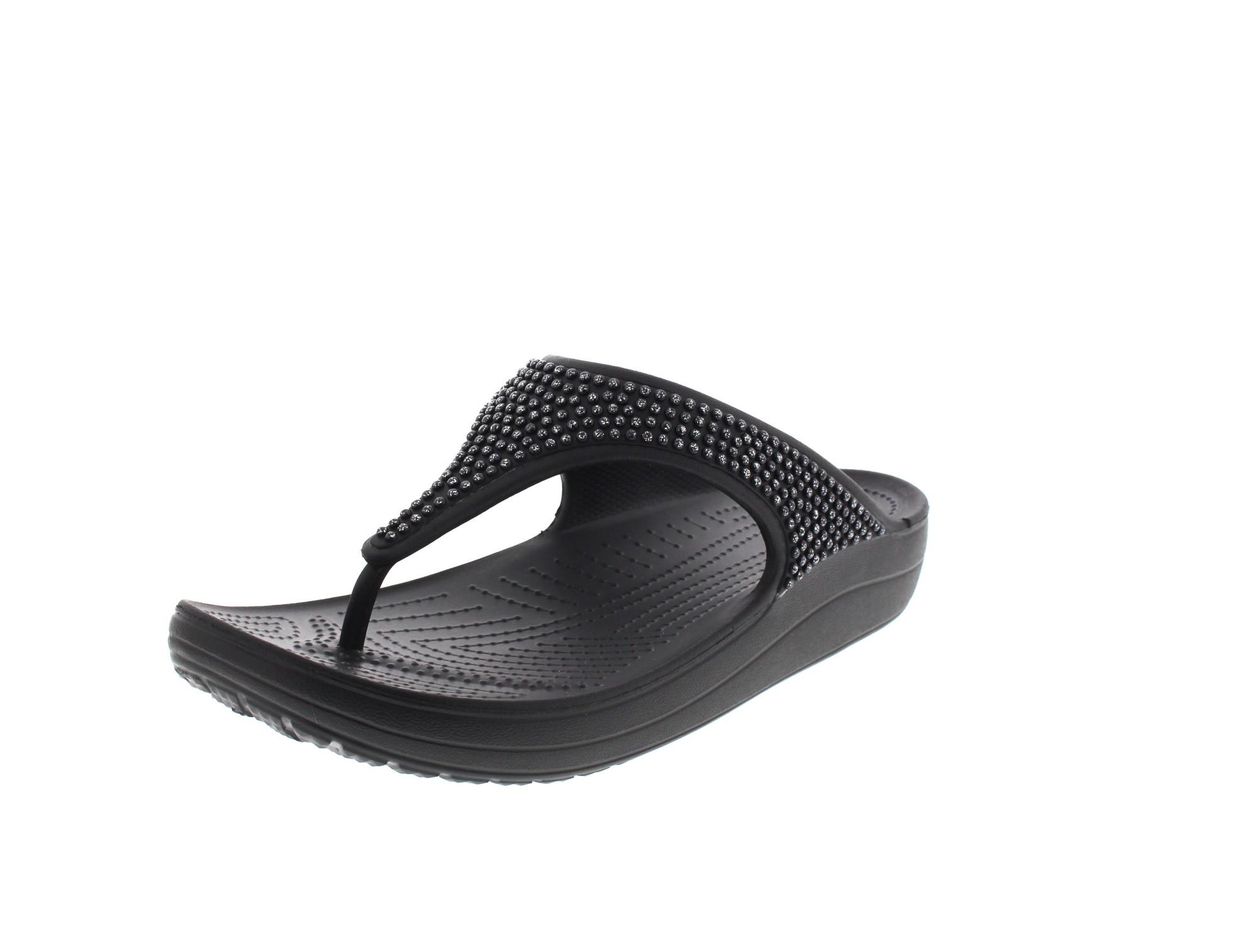 CROCS Schuhe - Zehentrenner SLOANE DIAMANTE FLIP black0-4283