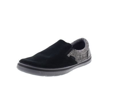 CROCS - NORLIN Herringbone Slip On - black charcoal