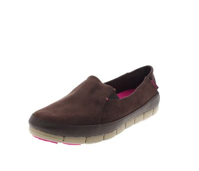 CROCS Schuhe - STRETCH SOLE Microsuede Loafer mahogany