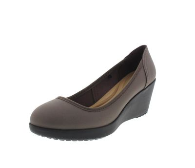 CROCS Damenschuhe - MARIN COLORLITE WEDGE pewter black