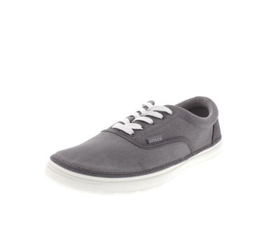 CROCS Herrenschuhe - NORLIN CANVAS PLIM - smoke white