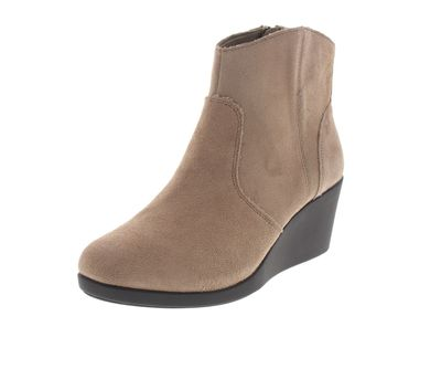 CROCS - Damenstiefel Leigh Suede Wedge Bootie - tan