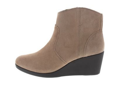 CROCS - Damenstiefel Leigh Suede Wedge Bootie - tan preview 2