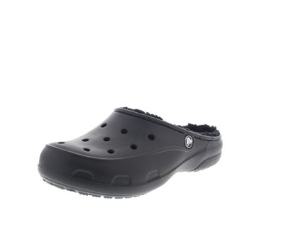 CROCS - Gefütterter FREESAIL PLUSH LINED CLOG - black