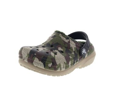 CROCS Kinder - Classic Lined Graphic Clog - green camo