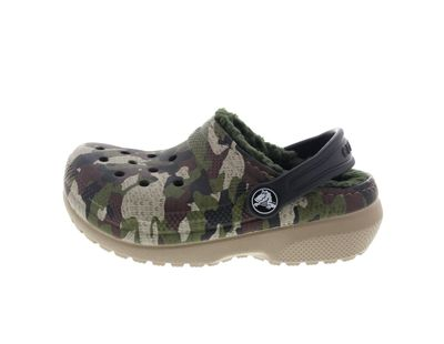 CROCS Kinder - Classic Lined Graphic Clog - green camo preview 2