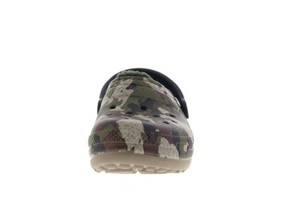 CROCS Kinder - Classic Lined Graphic Clog - green camo preview 3