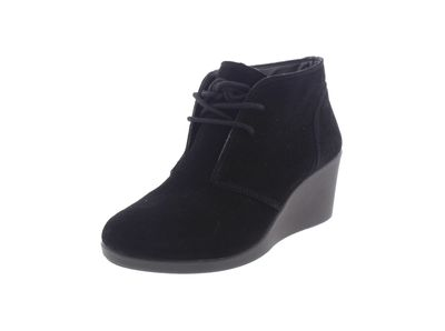 CROCS Stiefelette -  Leigh Suede Wedge Shootie - black