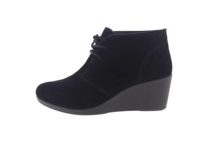 CROCS Stiefelette -  Leigh Suede Wedge Shootie - black preview 2